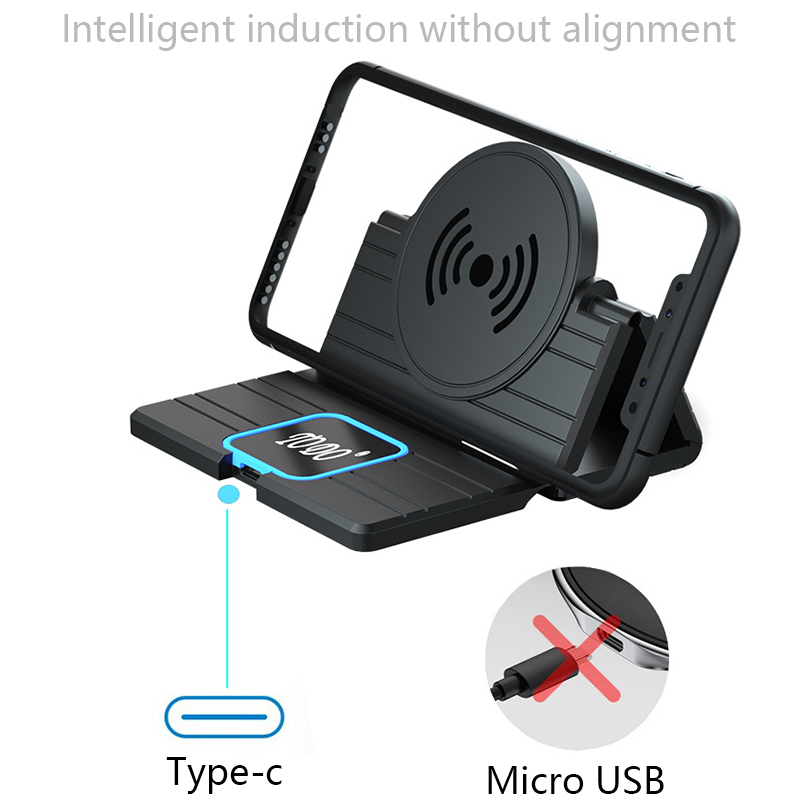 15W Car Wireless Charger Pad for iPhone 11 Pro Max Samsung S10 Plus Huawei Car Fast QI Wireless Charging for Samsung Note 9 S10