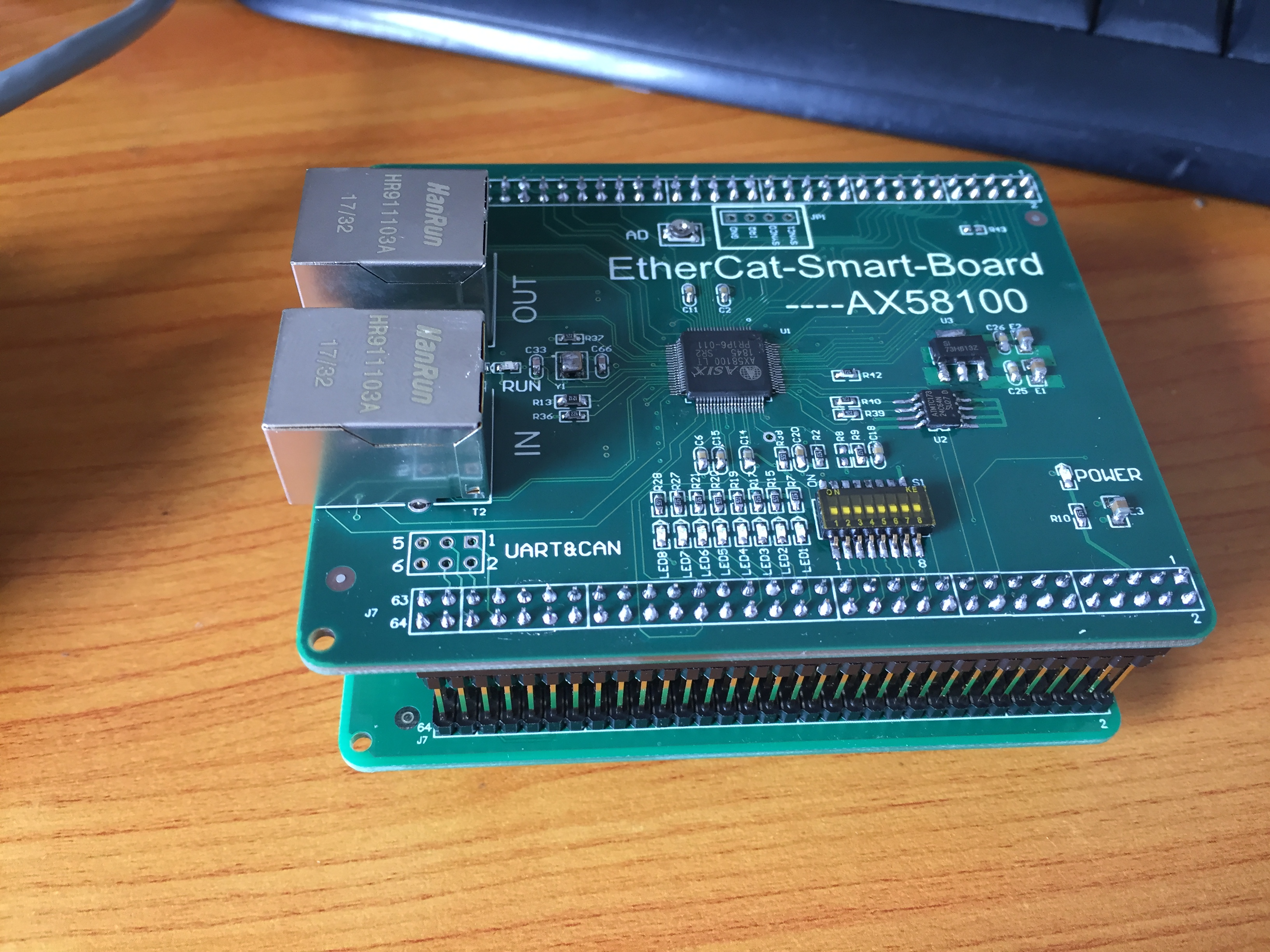 Genuine EtherCat-AX58100 Development Board, Can Replace ET1100. STM32, DSP, ZYNQ Scheme