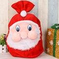 Рождественская Подарочная сумка  большая сумка для конфет  рюкзак Санта Клауса с рисунком  Высококачественная Золотая Бархатная Подарочна...