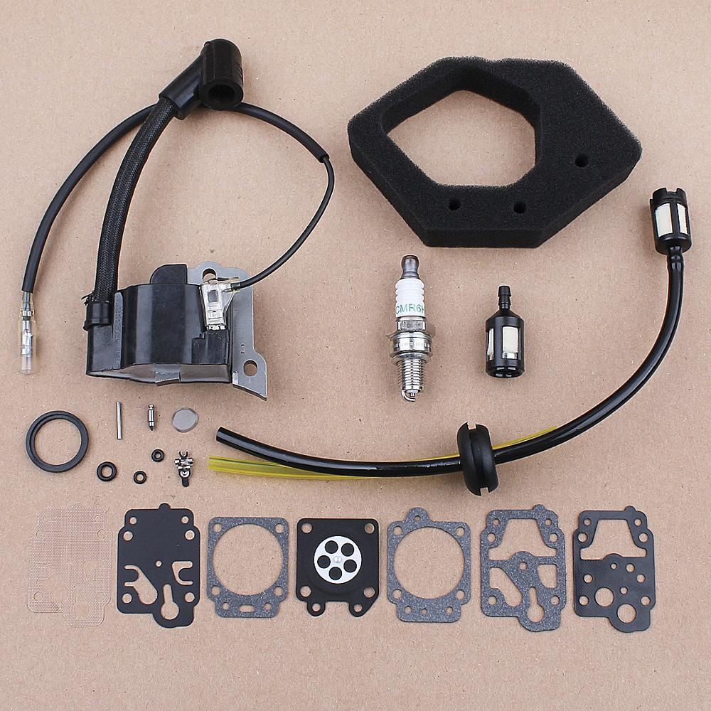 Ignition Coil Carb Repair Kit For Honda GX25 FG110 HHT25 WX10K1 Trimmer 30500-Z0H-013 Air Filter Grass Trimmer Engine Parts