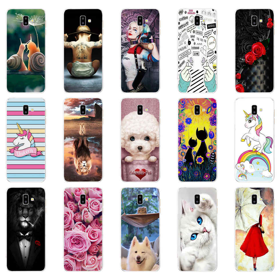 For <font><b>Coque</b></font> <font><b>Samsung</b></font> Galaxy <font><b>J6</b></font> <font><b>Plus</b></font> <font><b>2018</b></font> Case Cover J600F J610F Soft <font><b>Silicone</b></font> Phone Back Case For <font><b>Samsung</b></font> <font><b>J6</b></font> <font><b>2018</b></font> Case Funda Bumper image