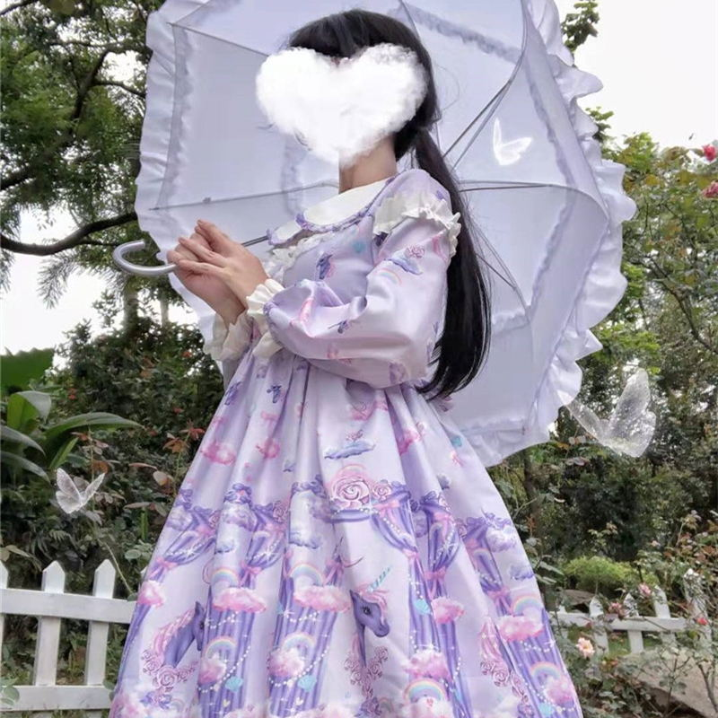 Lolita Dress Tea Party Unicorn Japanese Vestido Girl Op Lace Gothic Lolita Cosplay Lace Dress Princess Missy Costume Dress