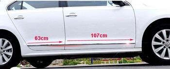 Higher star stainless steel 4pcs side door trim/side door protection strip For volkswagen Jetta/sagitar 2012-2016