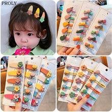 5 шт/комплект детские заколки для волос с цветами