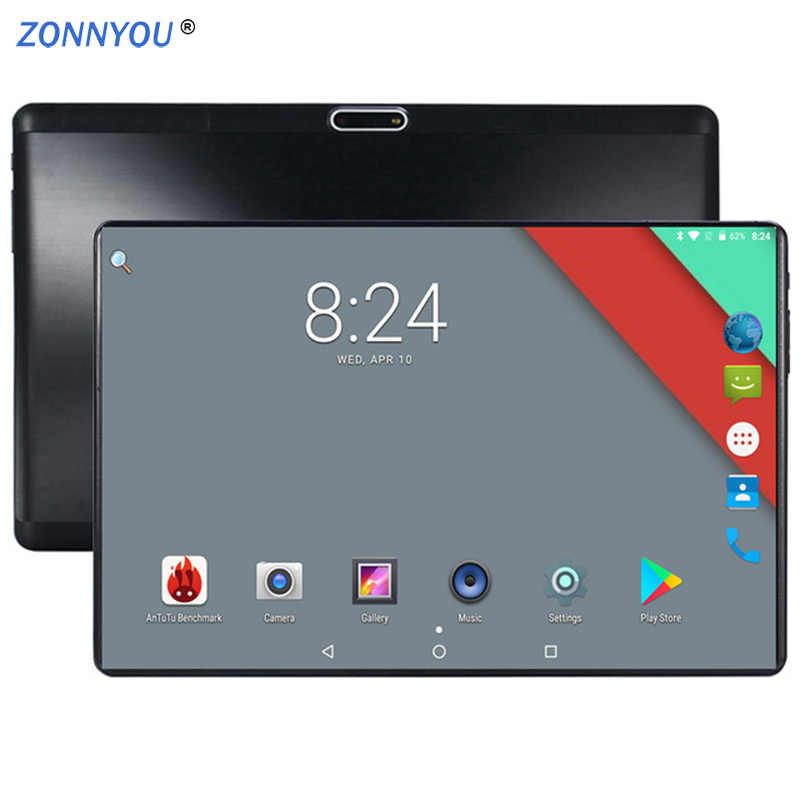 2019 Nieuwe 10 inch Originele 4G LTE Telefoongesprek Android 7.0 Octa Core 4G + 64G Android tablet Pc Mooie IPS HD pc tablet GPS WiFi
