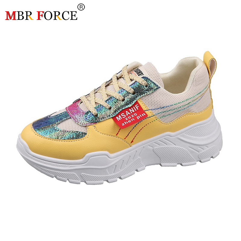 MBR FORCE 2020 New Printed Woman Casual Shoes Women  Shoes Fashion Leather Lace-up Flats Women Sneakers Femme Zapatos De Mujer