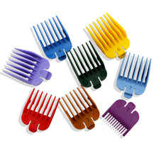 BarberShop 8 Pieces / Set of Universal Hair Clipper Limit Comb Guide Attachment Size Barber Replacement Colorful