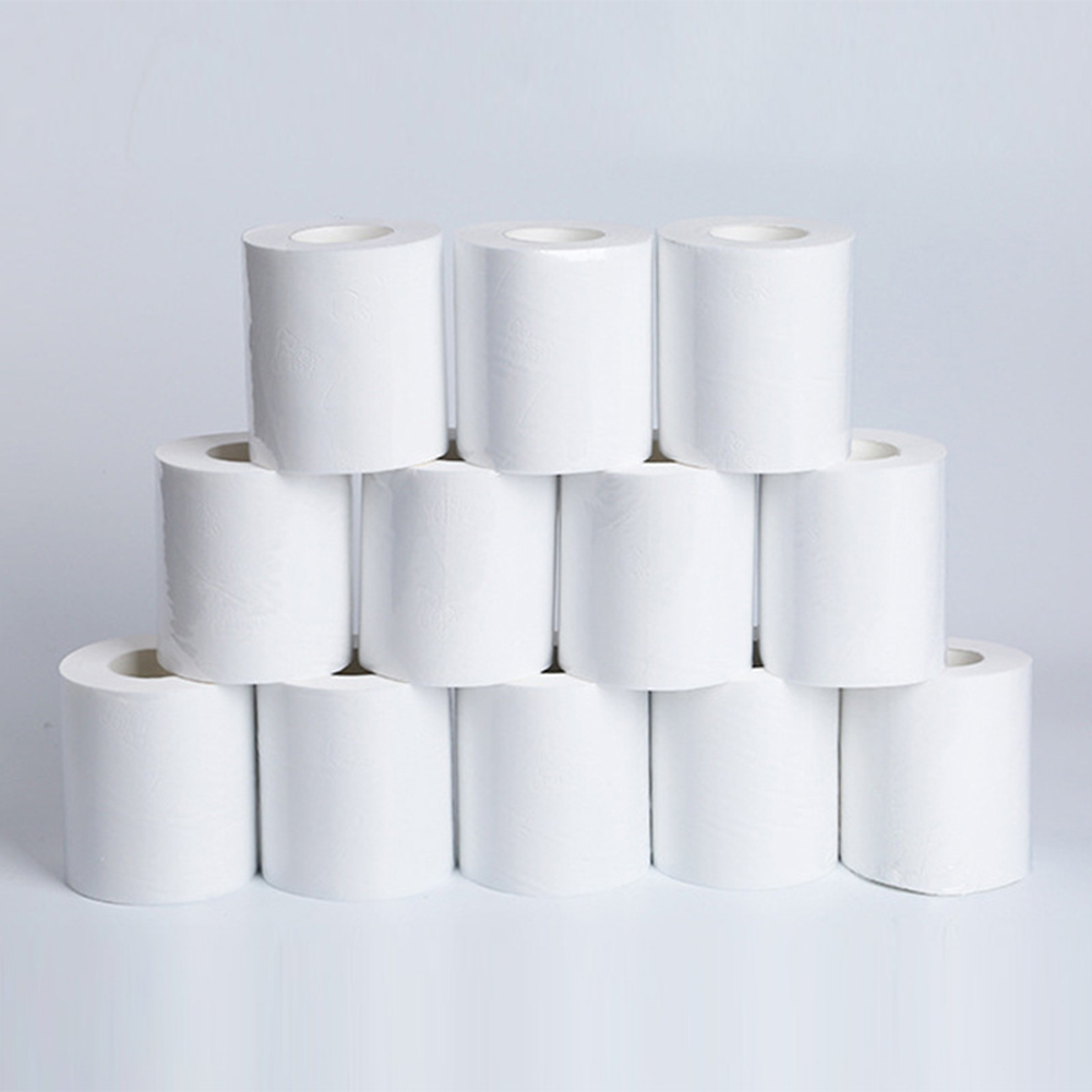 10rolls Set Of 3layers Toilet Paper Hotel Bathroom Cleaning Napkin Bedroom Tissues Kitchen Household Skin-friendly Soft Paper