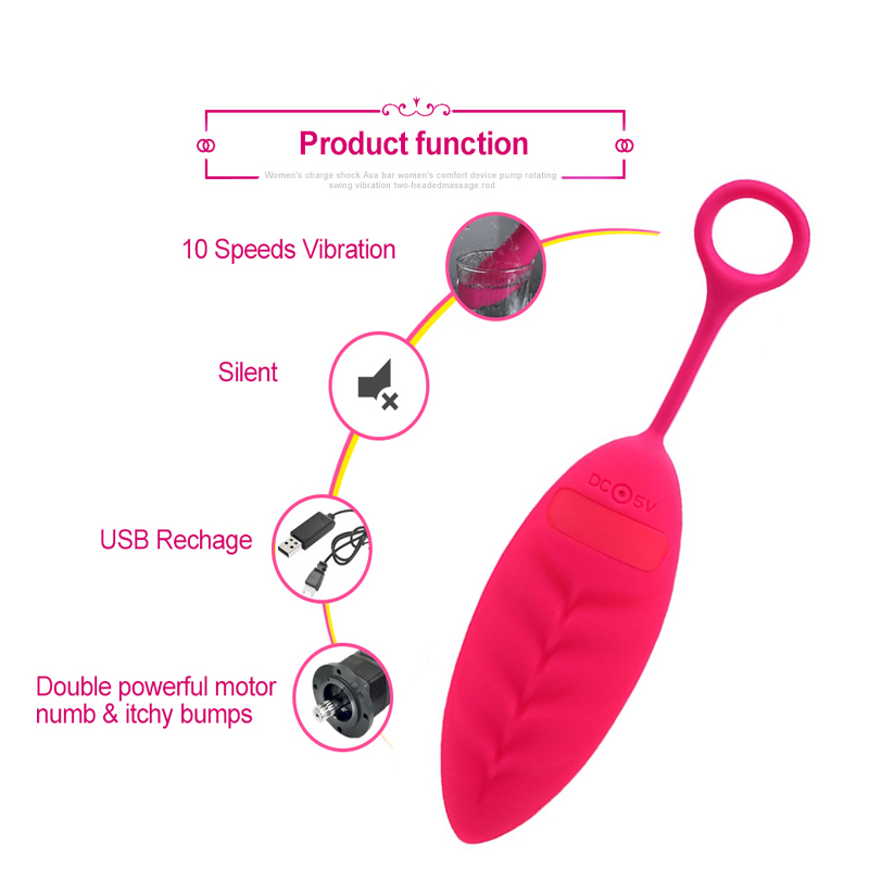 Free Shipping Vibrating Wireless remote control jump eggs silicone waterproof vibrator kegel ball egg exercises in Vibrators from Beauty Health