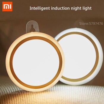 цена на Xiaomi Smart Sensor Wall Lamp Rechargeable Battery Voice Control Bedroom Night Induction LED Light Smart Home