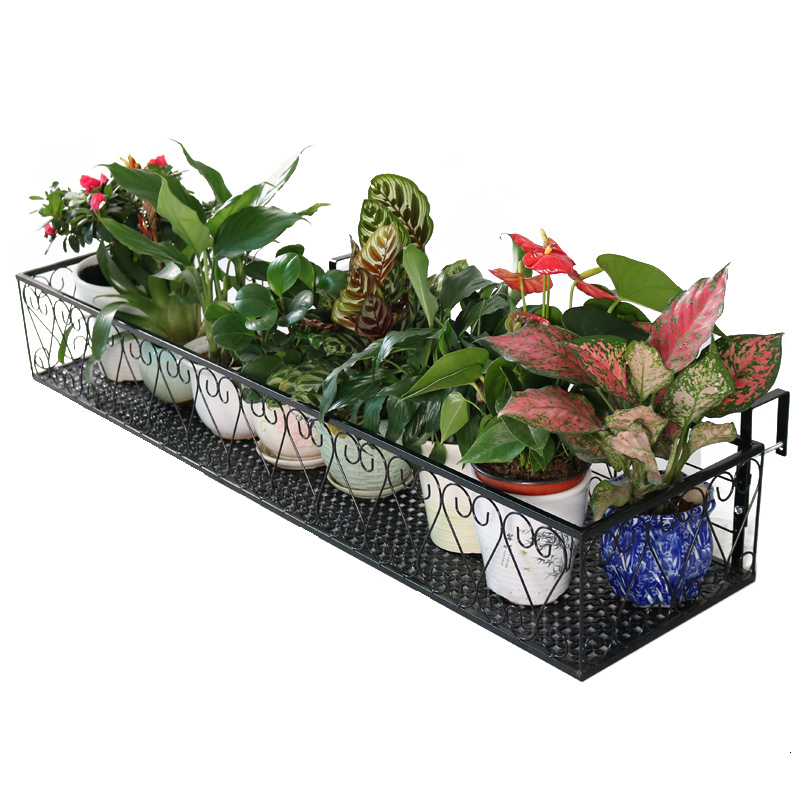 Balcony Flower Rack Hanging Type Admission Suspension Shelves Indoor Outdoors Green Luo Decorate Flowerpot Frame