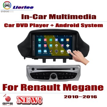 Car DVD Player For Renault Megane Scala III 2010 2011 2012 2013 2014 2015 2016 Screen GPS Navigation Android System Video Stereo image