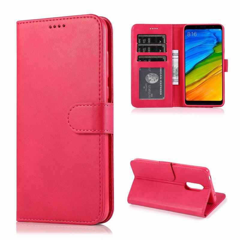 Kapak kılıf Xiaomi Redmi 5 deri kılıf lüks manyetik kapak Funda Redmi not 5 Pro için 5.99 ''Global sürümü cüzdan kapak