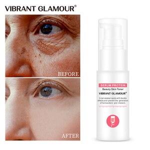 Image 1 - VIBRANT GLAMOUR Serum białko przeciwzmarszczkowe Serum do twarzy kolagen wybielanie nawilżający esencja antyalergiczna maska Toner kurczyć porów