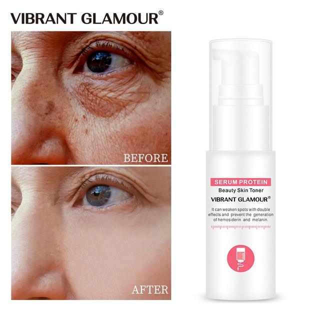 VIBRANT GLAMOUR Serum białko przeciwzmarszczkowe Serum do twarzy kolagen wybielanie nawilżający esencja antyalergiczna maska Toner kurczyć porów
