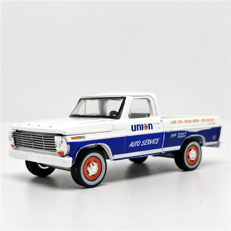 Greenlight 1:64 1968 Ford F-100 Union 76 Auto Service White/Blue No Box