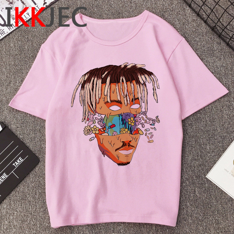 R.I.P Juice Wrld Singer Casual T Shirt Men Hip Hop Rapper Harajuku T-shirt 90s Graphic Print Tshirt Streetwear Top Tees Male