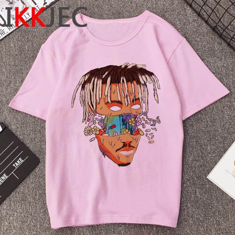 R.I.P Juice Wrld Singer Casual T Shirt Men Hip Hop Rapper Harajuku T-shirt 90s Graphic Print Tshirt Streetwear Top Tees Male