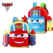 Disney Pixar Cars Plush Backpack Lightning McQueen School bag backpack Kindergarten Action figure Toys For Children Gift