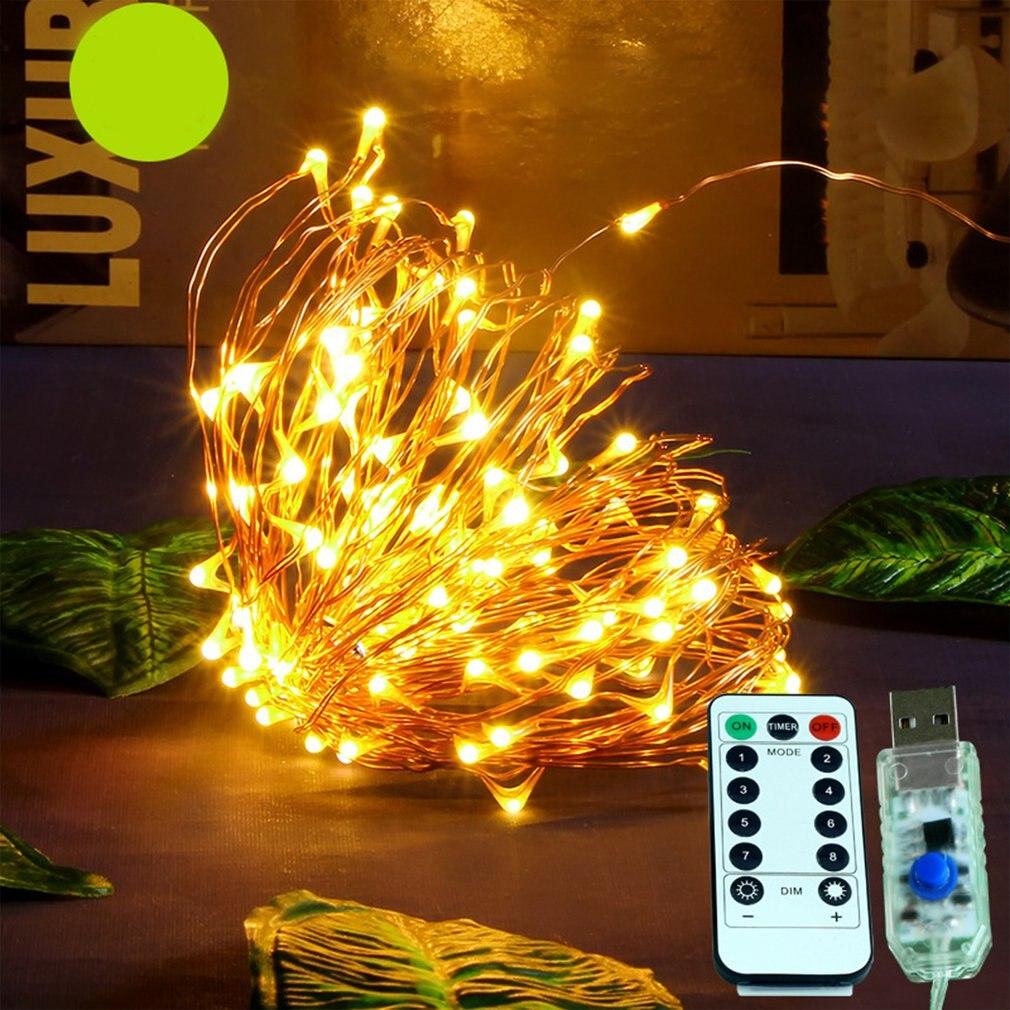 Led Light String Copper Wire Remote Control Decorative Lights