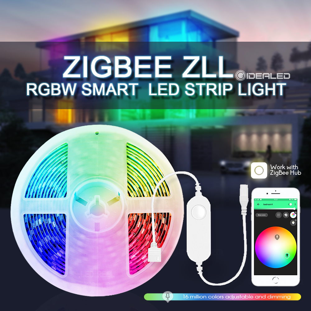 Smart Zigbee MINI Controller RGBW LED Strip Light Set Controller SmartThings APP Voice Control Work with Alexa Echo SmartThings
