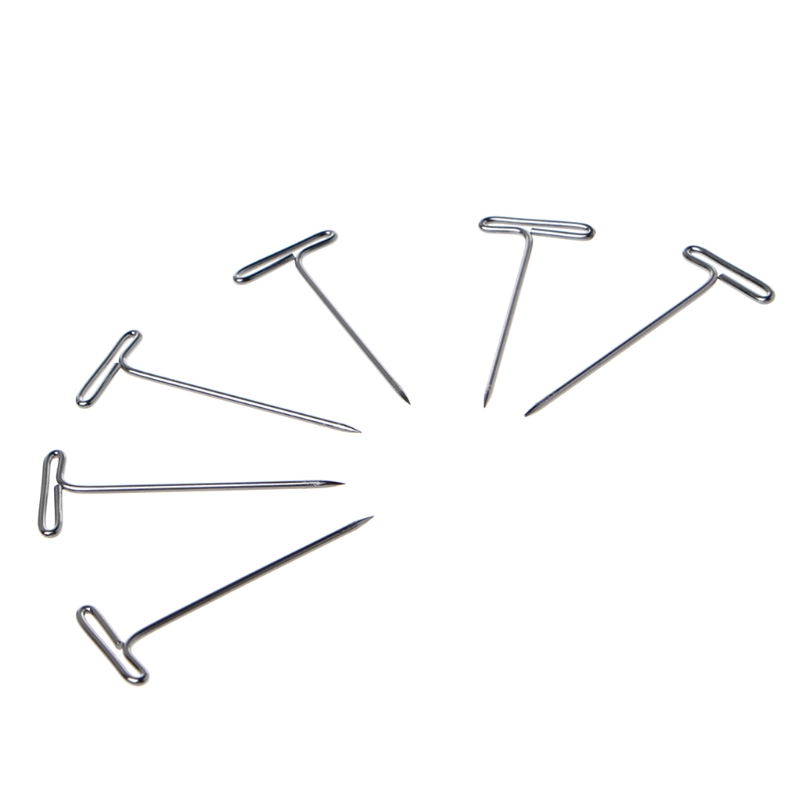 100 Pcs T Pins Needle For Wig On Foam Head Style Head Sewing Hair Salon Tools DXAC
