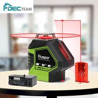 DEC TEAM 360 Degree Red Laser Level Cross Line with 2 Plumb Dots Point Professional Measure Self Leveling 621CR