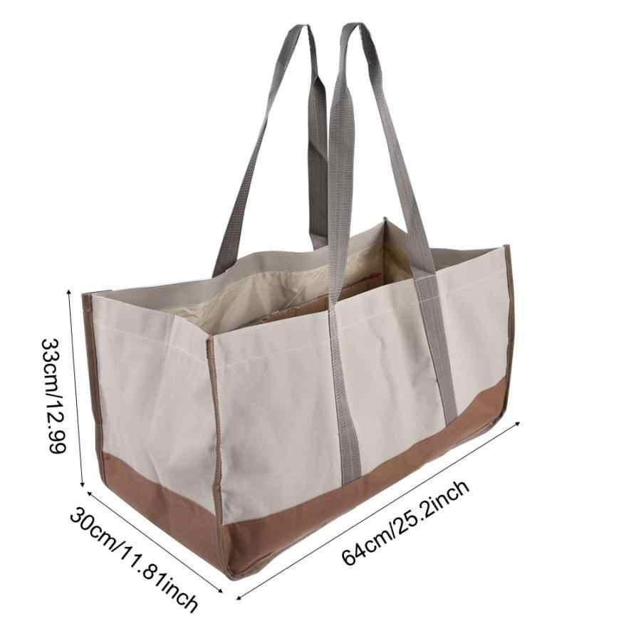 Coincidencia de color gris y negro Bolsa de le/ña Soporte para transporte de troncos al aire libre Bolsa de transporte de madera para le/ña de gran capacidad