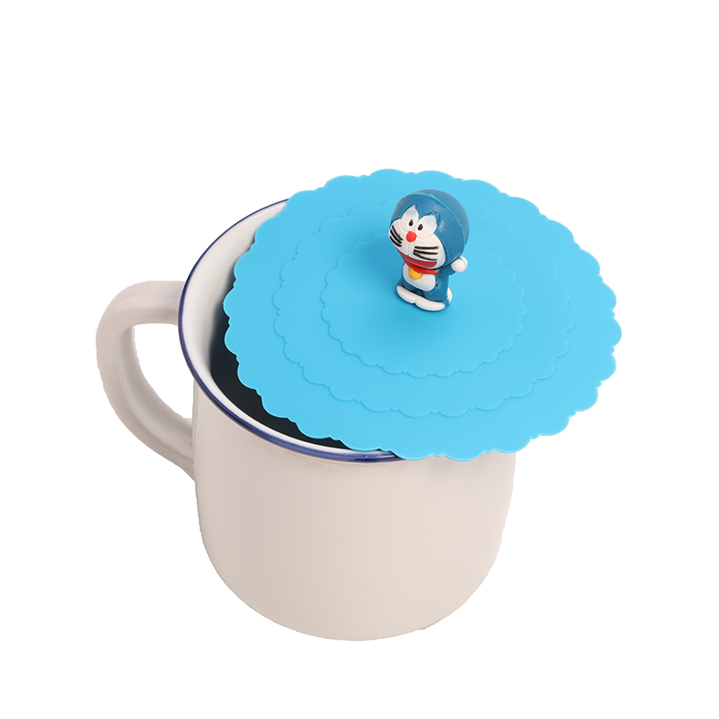Silicone Leakproof Cup Lids Heat Resistant Reusable  Sealed Cover Kitchen Accessories Tea Cup Seal Cap Cup Lids