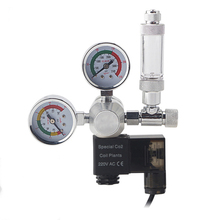 Aquarium CO2 Regulator Magnetic Solenoid Check Valve Fish Tank CO2 Pressure Reducing Valve DIY CO2 Control System Kit 220V 110V hydraulic directional control valve zdr6da1 30 210ym superimposed pressure reducing valve hydraulic system