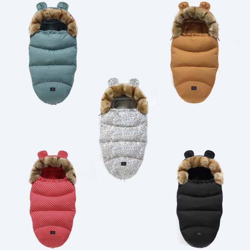 Baby Stroller Sleeping Bag Winter Warm Sleepsacks Robe Newborn Infant Footmuff C63C