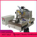 4 axis Mini CNC Router 3040 2200w Aluminum Copper Metal Engraving Milling Machine with limit switch for wood carving