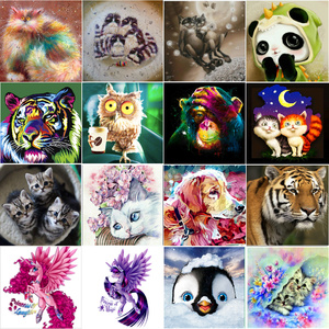 5DDIY diamond painting animal tiger cat embroidery cross stitch Mosaic sticker home decoration wall stickers handmade New Year g