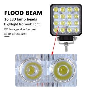 Image 4 - Auxtings 20pcs/Lot waterproof 48w Flood/Spot led Work Light bar waterproof CE RoHS offroad truck car LED work light 12v 24v