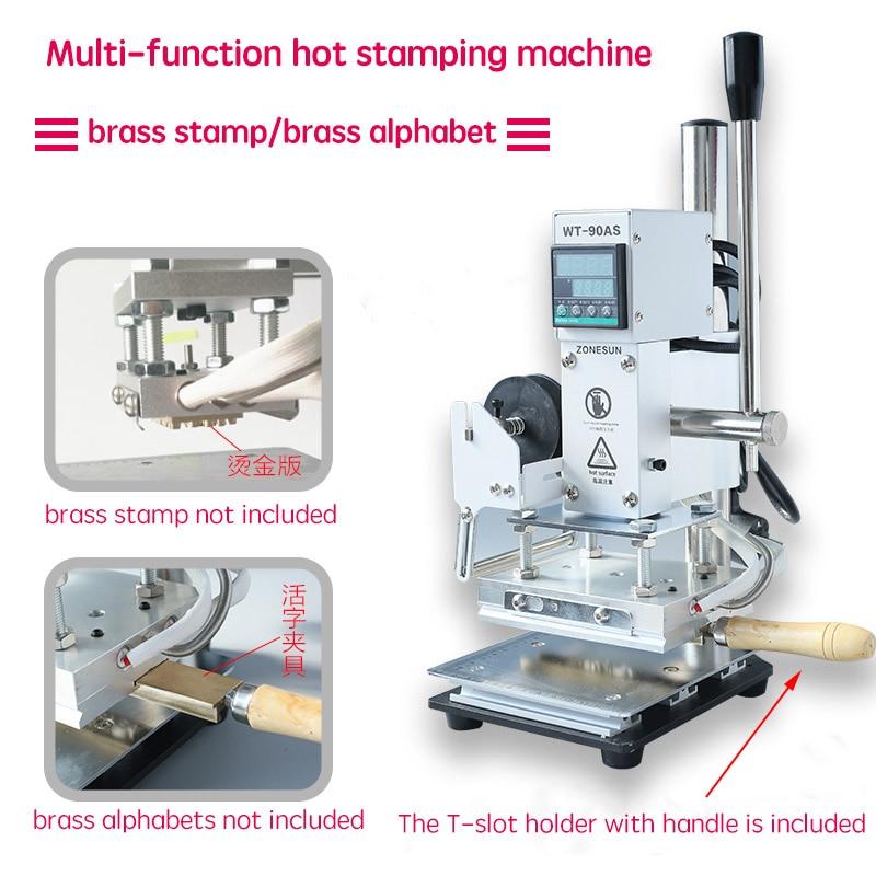 Multi-Funktion Digital Folie Heißer Stanzen Logo Prägung Messing Buchstaben Label Bronzing Maschine Leder Holz Stempel Werkzeug DIY