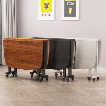 Składany stół stół domowy prosty prostokątny stół stół składany ruchomy stół i krzesło na kółkach tanie i dobre opinie CN (pochodzenie) Metal meble zewnętrzne Nowoczesne Large folding table Wood - based panel Density board fiberboard Abstract pattern