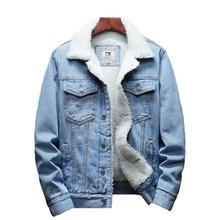 Зимняя мужская куртка и пальто теплая флисовая Модная Джинсовая куртка для мужчин s джинсовые куртки верхняя одежда мужские ковбойские Большие размеры 6XL