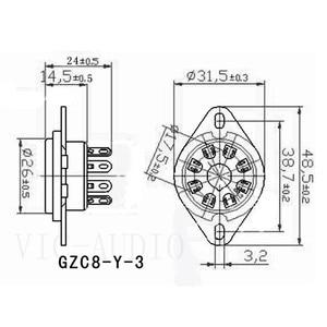 Image 5 - 10 Stuks 8Pins Big Hole Tube Socket Keramische Basis Voor KT88 KT66 EL34 6SN7 GZ34 5881 6V6 5U4G 6550C vacuüm Buizenversterker Audio Hifi