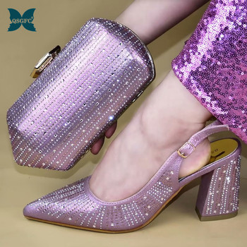 New 2019 Italian design Women Shoes and Bag Set African Wedding shoes Italian Shoes with Matching Bag Set