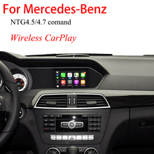 IOS Mirror Apple Wireless CarPlay Video Interface For Mercedes A Class W176 2012–2014 NTG4.5 System Car Play Rear Camera Adapter