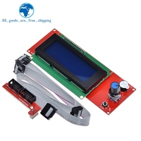 Controlador LCD para impresora 3D controlador LCD con ranura para tarjeta SD para rampas 2004, pantalla Reprap para impresora 3D, 1,4
