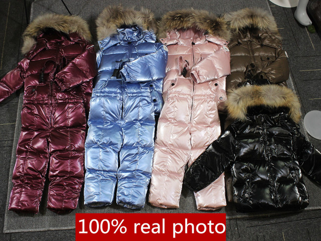 -30℃ orangemom Russia winter jacket for girls boys coats & outerwear , warm duck down kids boy clothes shiny parka ski snowsuit 1
