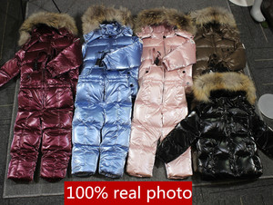 Image 3 -  30℃ orangemom Russia winter jacket for girls boys coats & outerwear , warm duck down kids boy clothes shiny parka ski snowsuit
