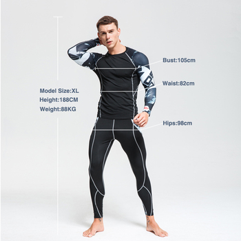 2020 Men's Thermal Underwear Set MMA Tactics Leggings Solid Color Costume Compress Fitness Long Johns Men Winter Brands  Men