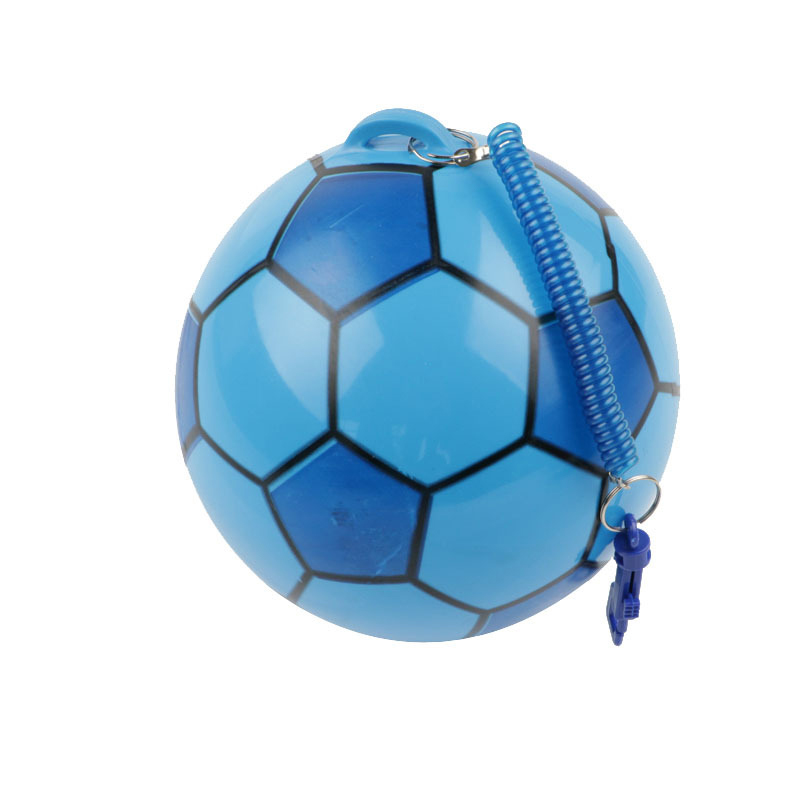 20cm PVC Inflatable Training Soccer with Chain Swimming Pool Football Play Water Game Balloons Beach Party Sport Kids Toys image