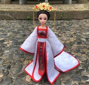 Кукла ручной работы китайская принцесса куклы 12 шарнирных старинных костюмов кукла косметология костюм полный комплект для девочек принце...