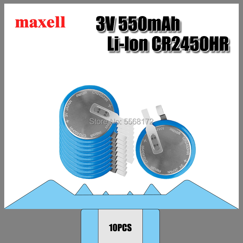 10PCS Brand new original Maxell <font><b>CR2450N</b></font> high temperature <font><b>battery</b></font> 3V tire pressure monitoring <font><b>battery</b></font> CR2450HR CR2450 image