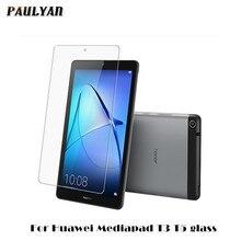 กระจกนิรภัยสำหรับ Huawei MediaPad T3 T5 7.0 8.0 9.6 10.1 นิ้วแท็บเล็ตหน้าจอป้องกัน Flim ป้องกันบน Media pad M6