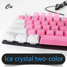 Crystal Edge Design Keycaps for Cherry MX Mechanical  Backlit Keyboard 104 Keys Key Cap