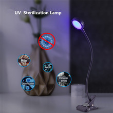 USB Handheld Germicidal Lamp Disinfection Clip Table Lamp Led Ultraviolet Disinfection Lamp UV Sterilization Lamp for Car Home